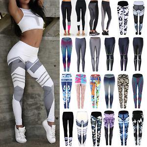 Damen-Sporthose-Leggings-Laufhose-Fitnesshose-Stretch-Jogging-Hose-GR-34-44-NEU