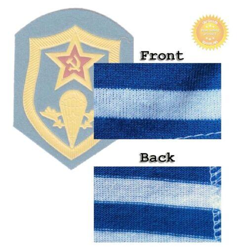 Sky Blue Long Sleeve Paratrooper Telnyashka Military Striped USSR Russian Cotton