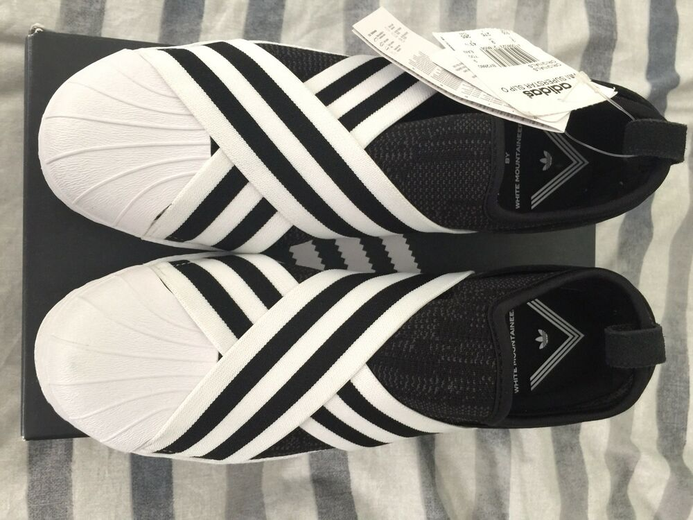 Adidas Originals blanc Mountaineering WM Superstar Slip On Pk Homme BY2879. UK 9-