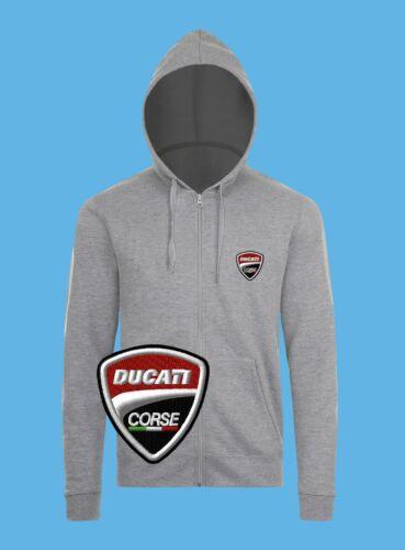 Ducati Zip Hoodie EMBROIDERED Auto Logo Sweatshirts Hoody Mens Womens Motorcycle