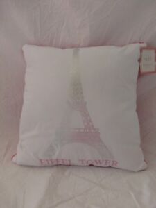 Details About Nicole Miller Paris Eiffel Tower Decorative Pillow 16 X 16 New