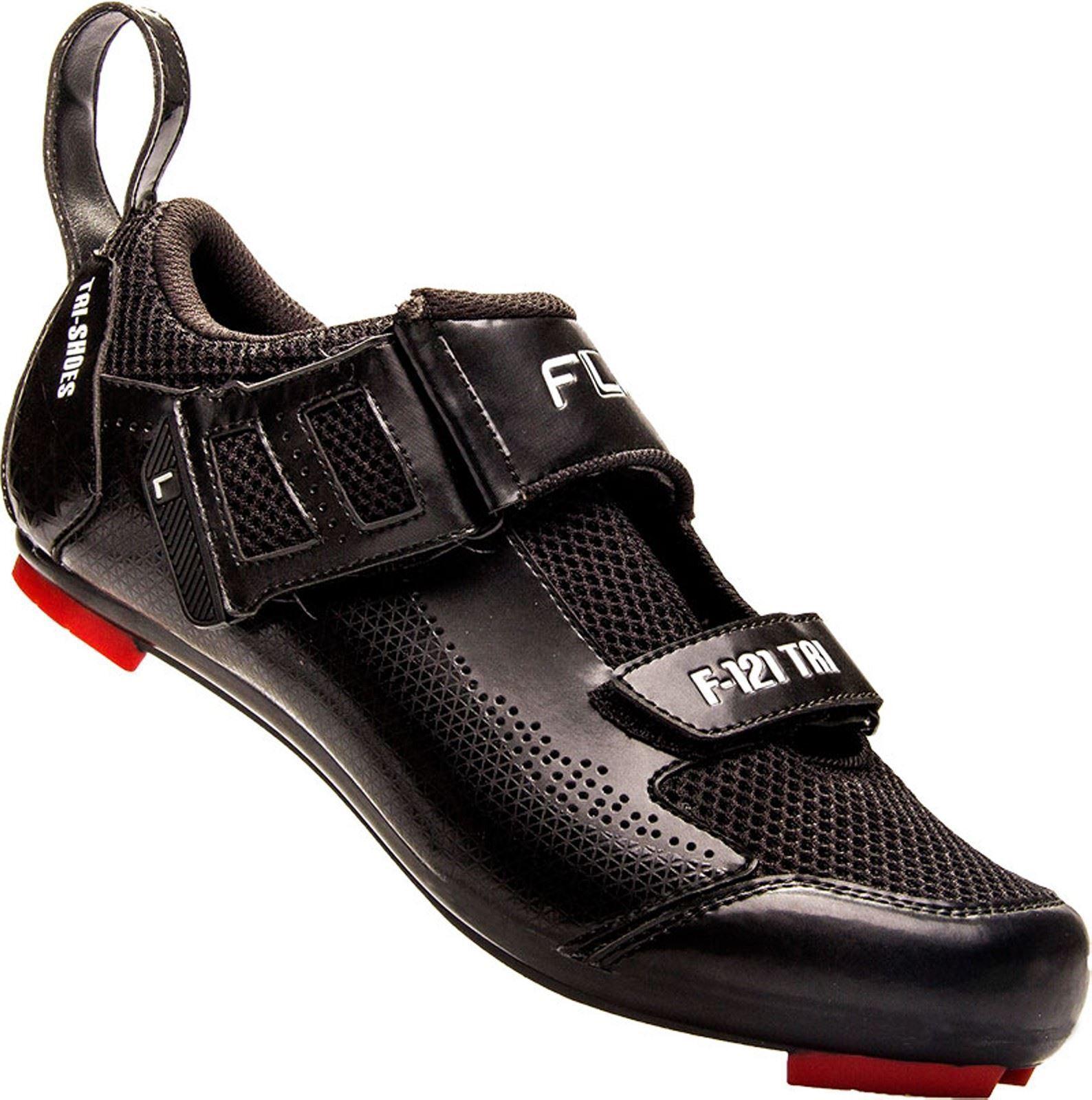Flr F121 Triathlon Scarpe in Nero  Dimensione 46 Mountain e Bici da Strada Ciclismo