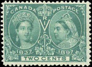 1897-Mint-H-Canada-F-Scott-52-2c-Diamond-Jubilee-Issue-Stamp