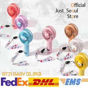 Official BTS BT21 Baby Wireless Mini Handy Fan+Freebie+Free Express Authentic