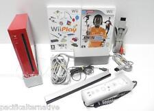 Lot console Nintendo Wii rouge + jeux Wii PLAY pes + manette complet enfant #11