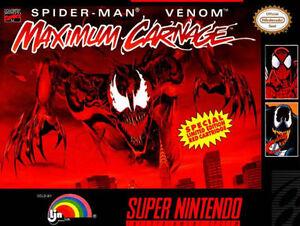maximum carnage super nintendo entertainment system 1994 ebay