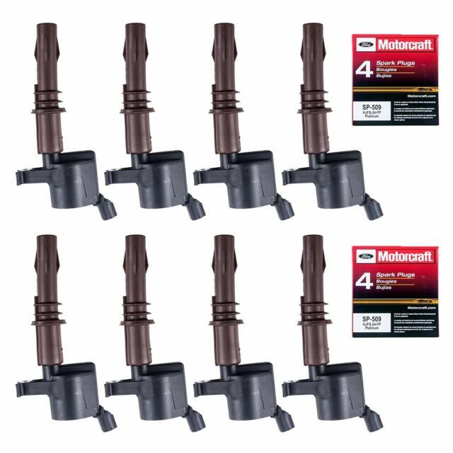 Herko Brown Boot Ignition Coils 8 Set of 8 Motorcraft SP514 Spark Plugs