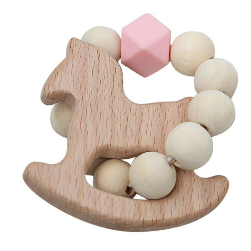 Wood Wooden Baby Beads Ring Play Toy Photography Props Kids Play Gym Toys