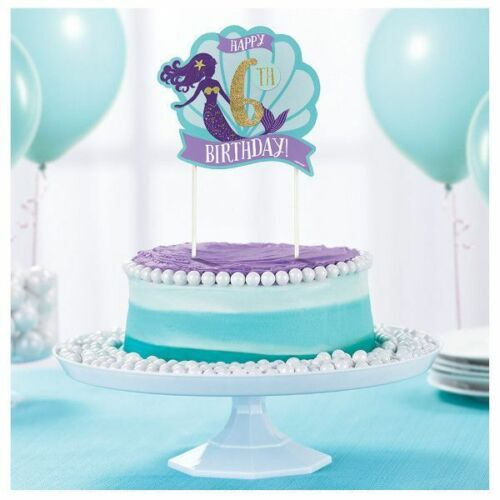 MERMAID CUSTOMIZE CAKE PICK TOPPER UNDER THE SEA NAUTICAL OCEAN PARTY DECORATION