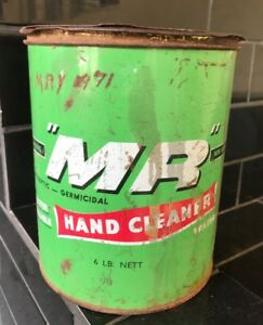 MR-6lb-Hand-Cleaner-Antiseptic-Germicidal-Vintage-Australia-Agricultural-Oil-Tin
