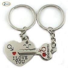 World Pride Key to My Heart Cute Couple Keychain Love Ring Chains Unisex Shoes