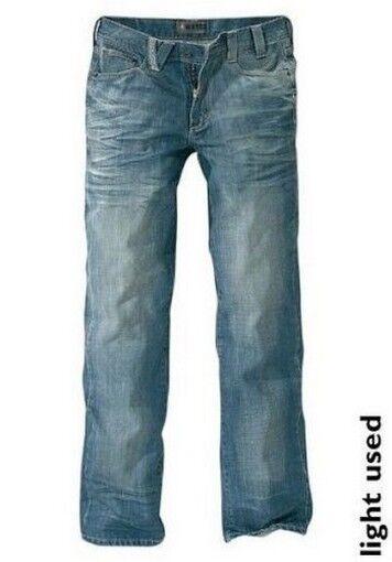 4Wards Jeans W30 L34 NEU Herren Gerade Hose Light Used Blau Denim Pattentaschen    Hohe Qualität und Wirtschaftlichkeit