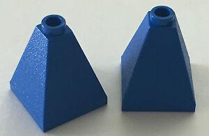 *nouveau* 4 Pièces Lego Bleu 2x2x2 Pente 75 Quadruple Convexe Design Professionnel