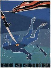 POLITICAL PROPAGANDA WAR VIETNAM FRANCE LARGE POSTER ART PRINT BB2637A