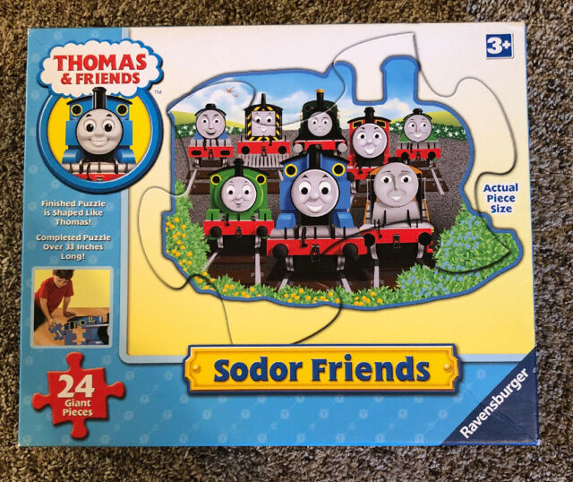 2008 Ravensburger ~ Thomas & Friends SODOR FRIENDS Train Floor Puzzle - Complete