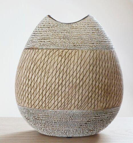formano Vase Tischvase Blumenvase Keramik Landhaus beige