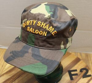 DIRTY SHAME SALOON YAAK MONTANA HAT CAMO CADET//MILITARY STYLE SIZE SMALL VGC F2