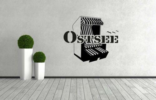 Wandtattoo Walltattoo Aufkleber Sticker Spruch Maritim Anker Meer Ostsee