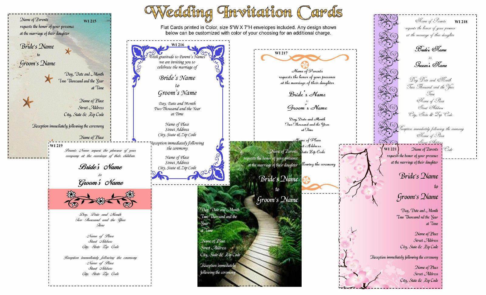 100 Party Invitation Printed in Farbe Graduation Flat Cards and Envelopes