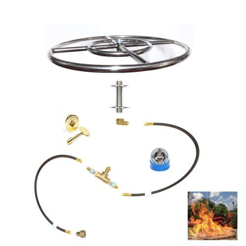EasyFirePits Pre-Plumbed Gas Fire Pit Kit /& Lifetime Warr 316 Stainless Burner