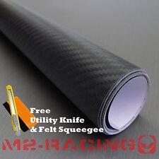 "** 60""x72"" 3D BLACK Carbon Fiber Texture Vinyl Wrap Sticker Decal Film Sheet"