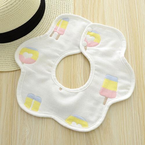 360 Degree Rotation Baby Bibs Bandana Burp Cloths Newborn Infant Saliva Towels