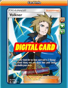 FA Volkner FULL ART 156//156 for Pokemon TCG Online PTCGO, Digital Card