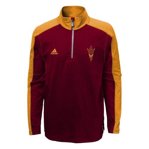 Pullover Fleece Jacket Collection Youth NCAA School Logo 1//4 Zip Perf S-XL