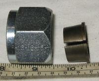 Lenz Hydraulic Flareless -16 (1) Tube Nut & Sleeve Fitting Free Shipping