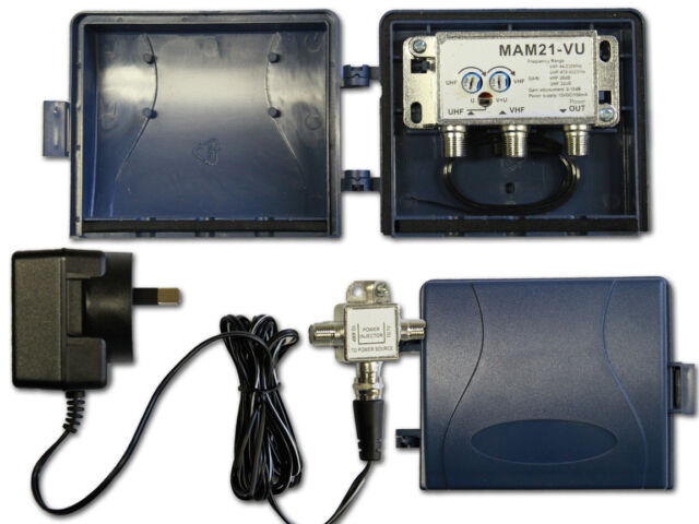 Masthead RF Amplifier with power supply UHF VHF