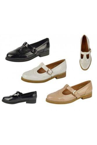 Femme Femmes Filles Plates Casual ajourées Chaussures Travail École Chaussures Tailles 3-8