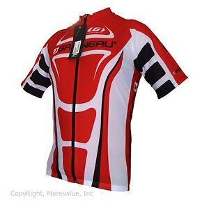 new Louis Garneau Vuelta Fondo carbon men/'s road cycling jersey full zip red blk