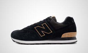 Details zu New Balance ML574JFE schwarz/braun/weiß, Herren Sneaker, NEU im  Karton