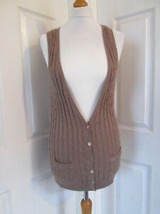 JOULES-CLOTHING-Ladies-Brown-Sleeveless-Cardigan-UK10