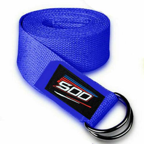 D-Ring Cotton Yoga Stretch Strap Training Belt Leg Fitness Body Exercise Gym