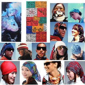 Women Men Head Face Mask Multi Wear Cotton Bandana Biker Motorcycle