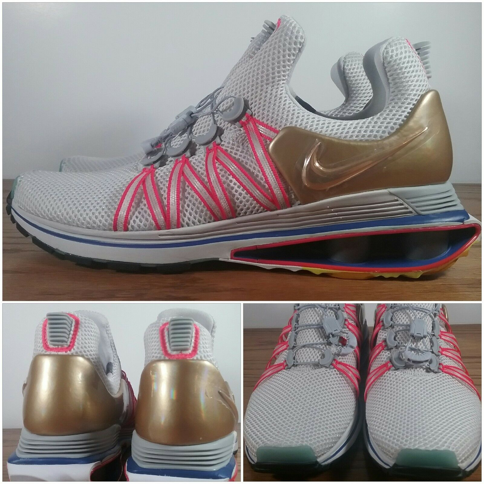 New Nike Shox Gravity  Olympic  Vast Grey Metallic gold AQ8553-009 Men's Sizes