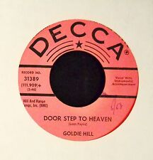 Goldie Hill Decca PROMO 31389 Door Step To Heaven and I'm Afraid