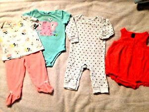 4 Outfit 5 Piece Pkg.2 Pieces 3-6 Other 4 Are 6mo This Is A Mix/match & Inte