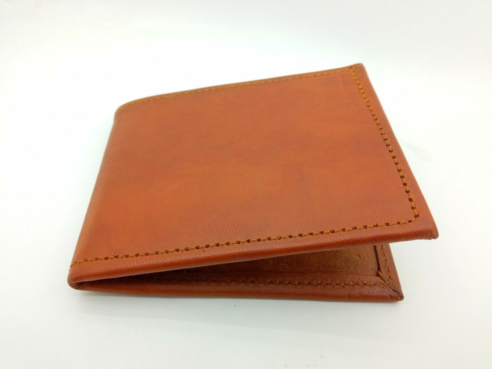 Indian Handmade Pure Leather Men's Wallet, Money Holder, Brown, Plain, Free ship