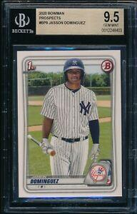 BGS-9-5-JASSON-DOMINGUEZ-2020-Bowman-Paper-Yankees-Top-Rookie-Card-RC-GEM-MINT
