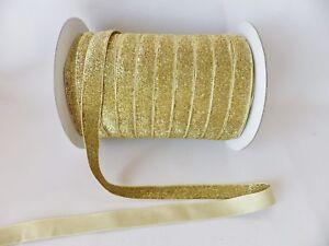 20mm-wide-GOLD-Velvet-Lame-Glitter-Ribbon-3-metre-packs