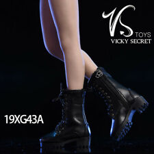 "VSTOYS 19XG35A 1//6 Vicky Serect Female Fashion Rivet Boots Black For 12/"" Figure"