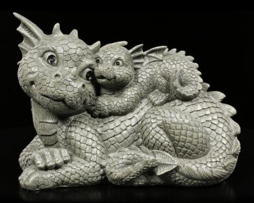 Jardin Personnage Dragon-Lovely-Fantasy Dragon famille Gartendeko appartement Statue