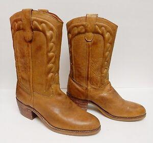 Father & Son Men's Boots Western Cowboy Heavy Leather Brazil Men's 9 D  Vintage   eBay