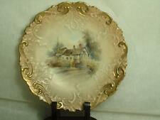 Royal Worcester Blush Ivory Anne Hathaway's Cottage Embossed Cabinet Plate 8.75""