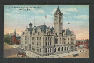 1910s-US-FEDERAL-BUILDING-AND-POST-OFFICE-OMAHA-NEB-POSTCARD