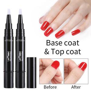 lemooc 5ml rotating pen top coat base coat nail art soak