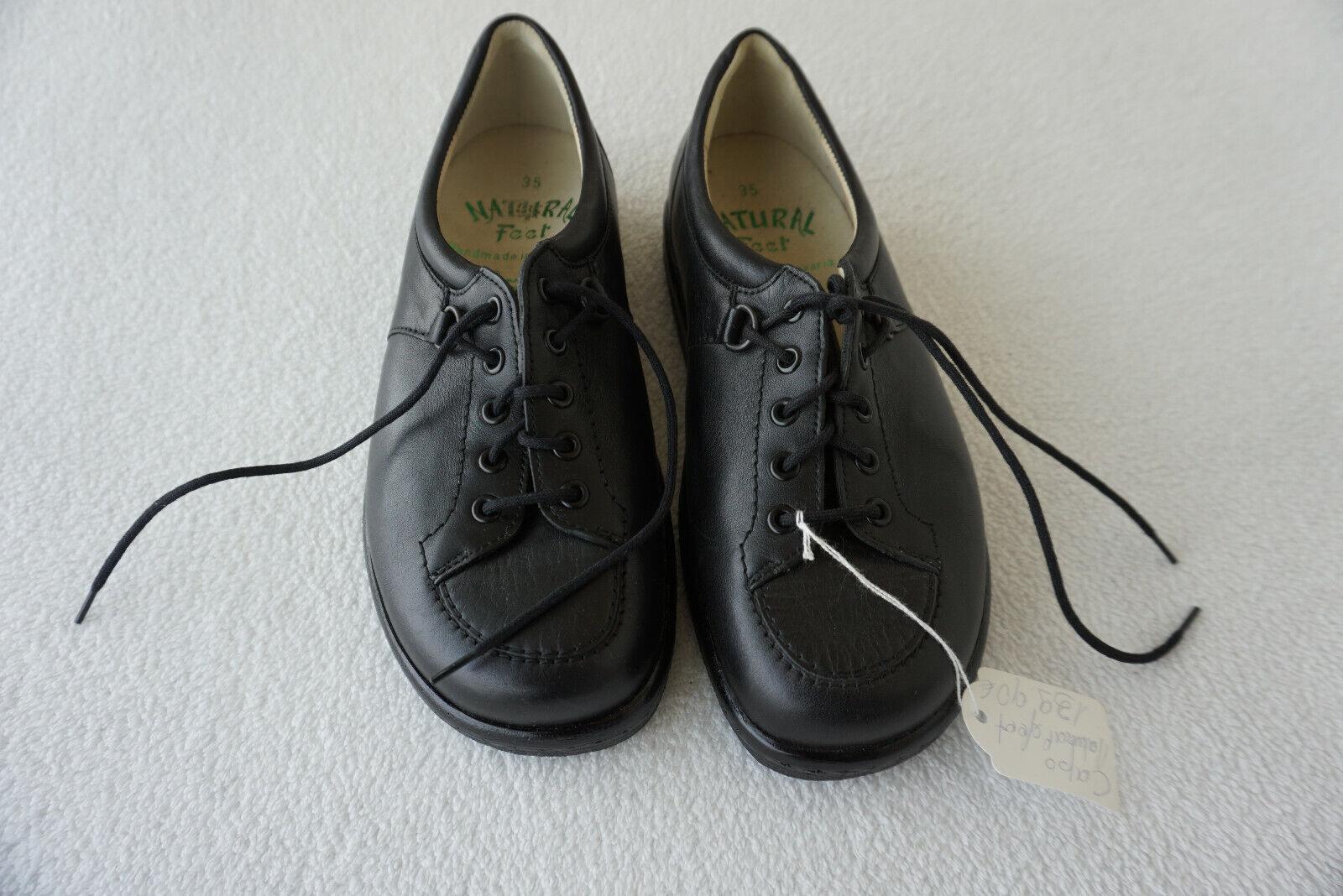 Orthopédiques Natural Feet Femmes Sandale Chaussures confortables taille 35 Noir Cuir Neuf