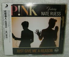 P!nk Featuring Nate Ruess Just Give Me A Reason Taiwan CD w/OBI (pink)